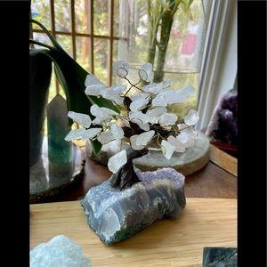 Amethyst & Clear Quart Tree
